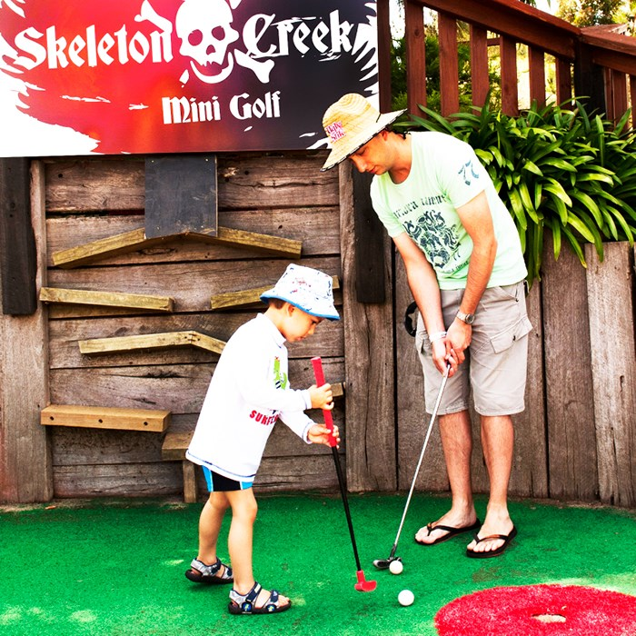 Skeleton Creek Mini Golf Banner