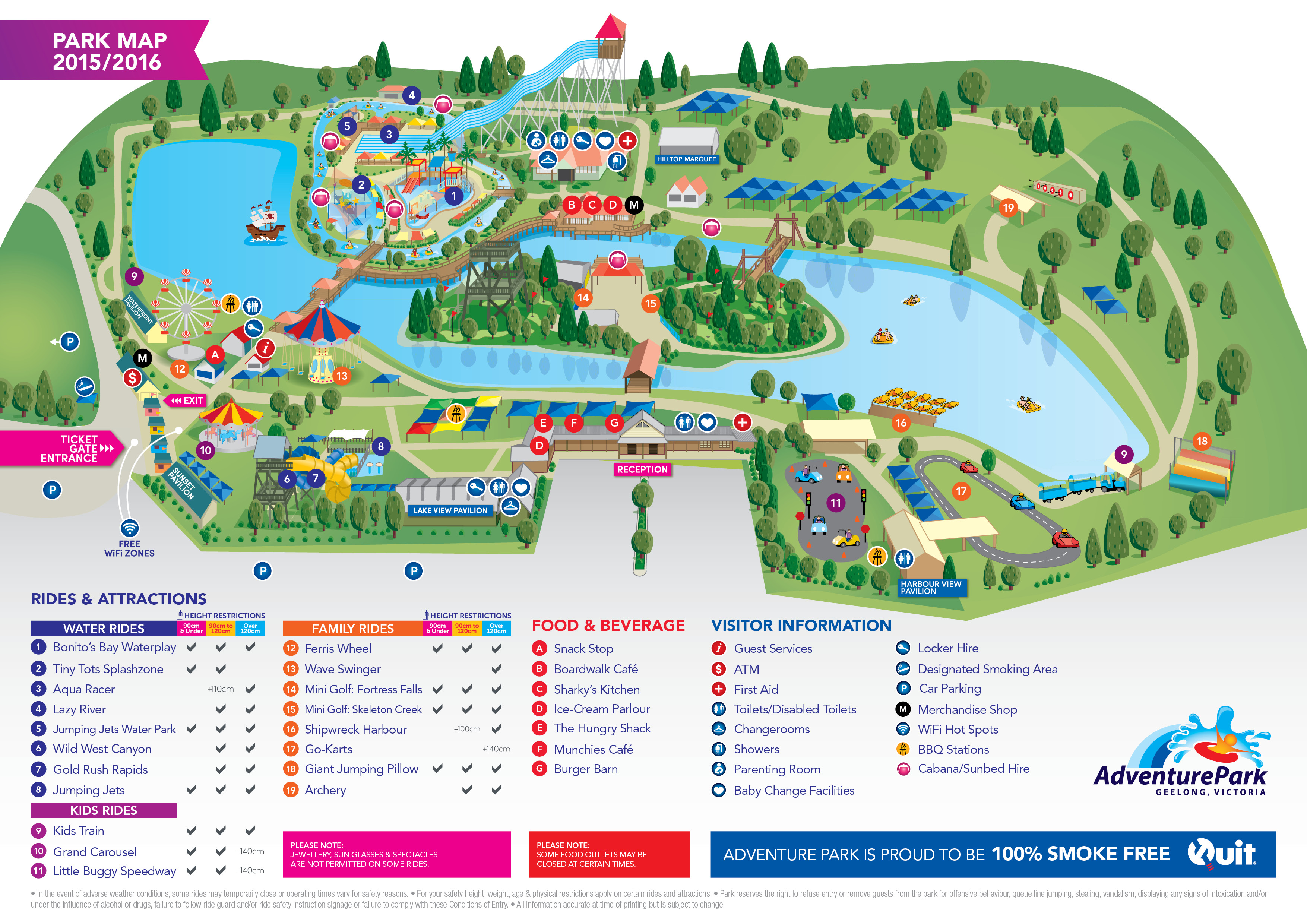Contact Us - Map of us water parks